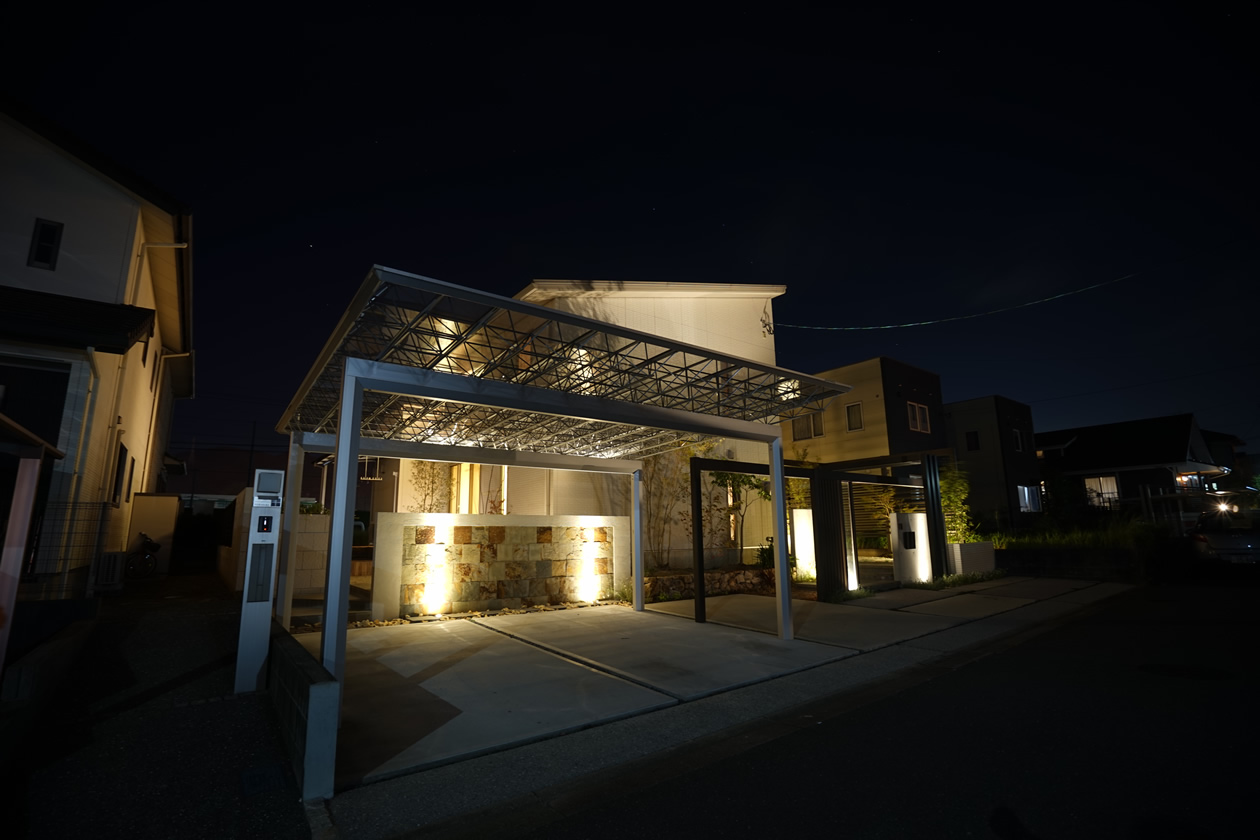 A様邸-夜間(鳥栖市)